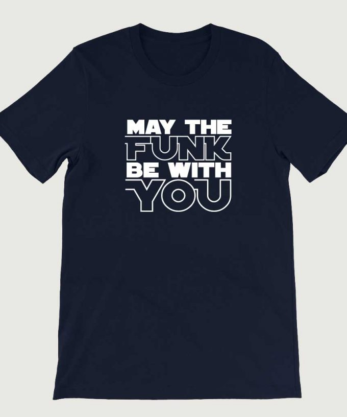 Retro Vintage Star Wars Inspired May the Funk Be With You men's (Unisex) T-shirt Navy
