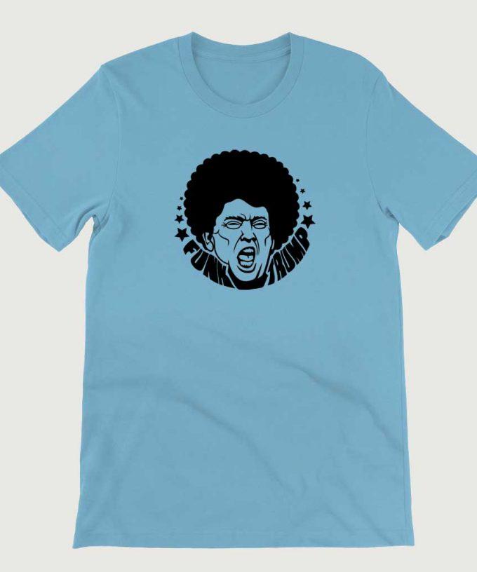Retro Vintage Anti Legend Funk Trump mens (Unisex) T-shirt Ocean Blue