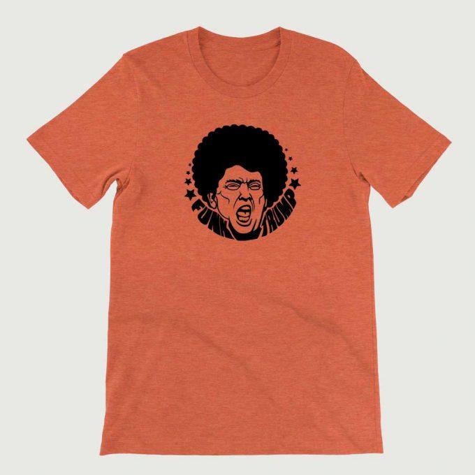 Retro Vintage Anti Legend Funk Trump mens (Unisex) T-shirt Orange Heather
