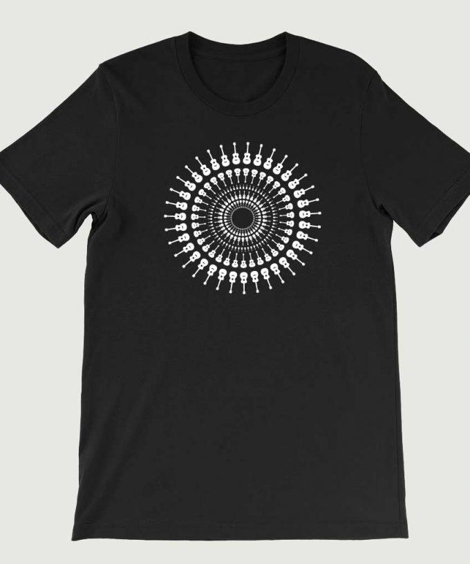 Guitarist's Guitar Mandala men's T Shirt (Unisex) Black