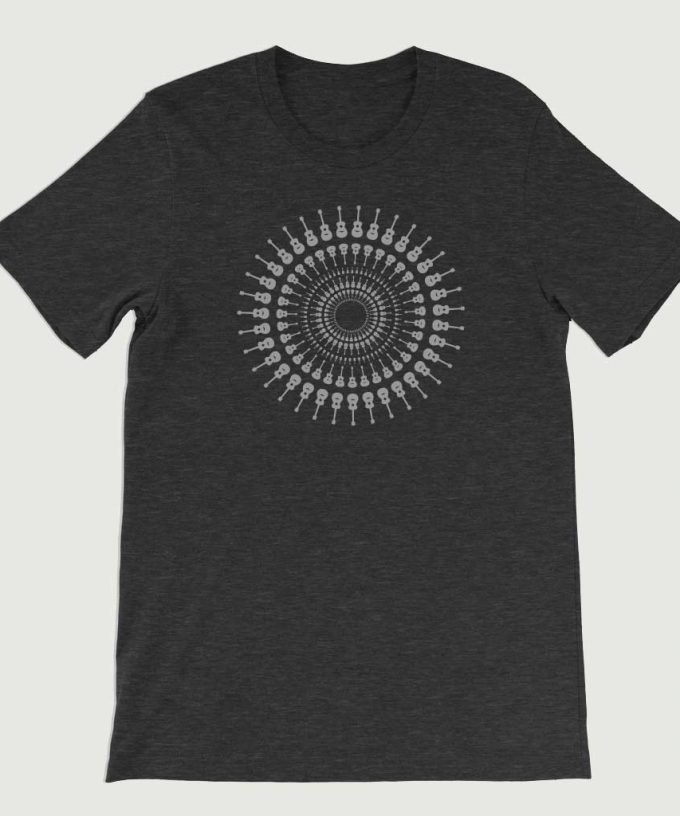 Guitarist's Guitar Mandala men's T Shirt (Unisex) Dark Grey Heather