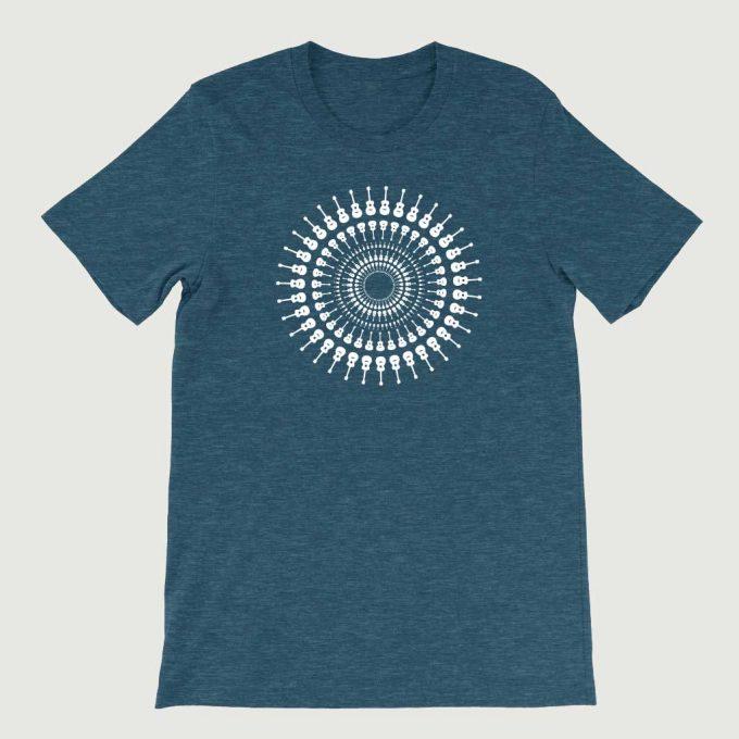 Guitarist's Guitar Mandala men's T Shirt (Unisex) Teal Heather