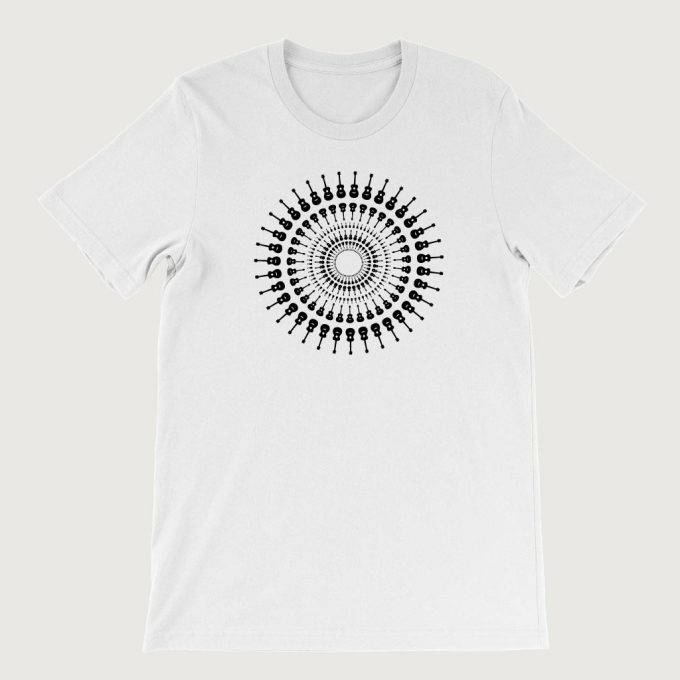 Guitarist's Guitar Mandala men's T Shirt (Unisex) White