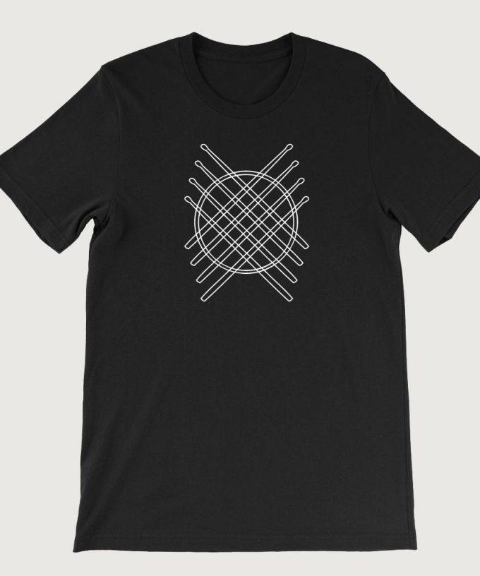Drummers Drum Stick Mandala men's T Shirt (Unisex) Black