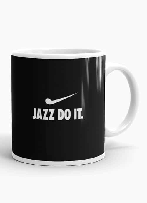 Stop the musical procrastination and JAZZ DO IT with this coffee mug
