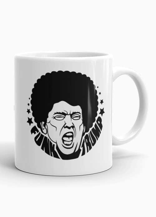 Funky Trump Mug, Afro Trump musician gift