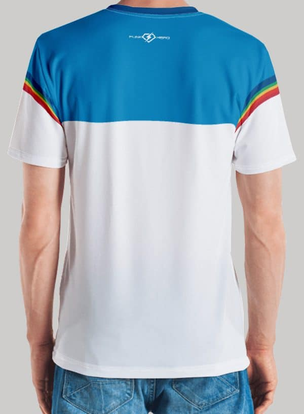 Retro Rainbow Soul Music All Over Men's Tee Back