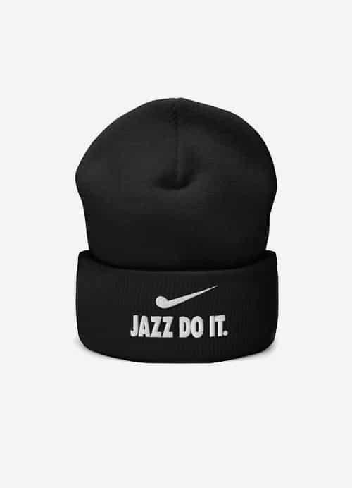 Jazz Do It Beanie For Jazz Musicians Black