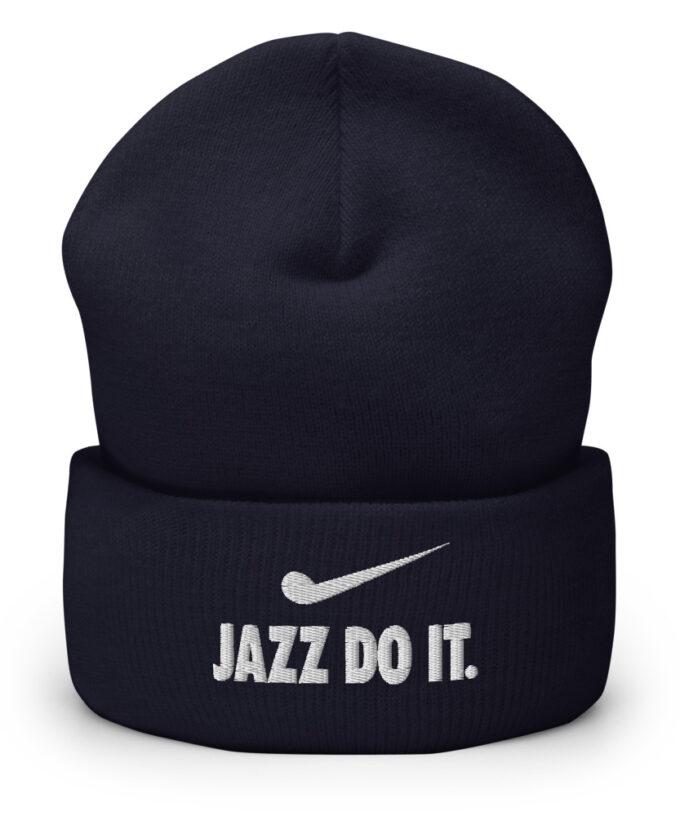 Jazz Do It Beanie For Jazz Musicians Navy